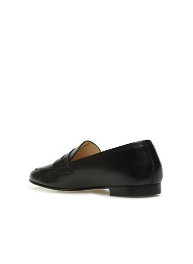 Divarese 5024284 Bantlı Kadın Deri Ayakkabı Siyah